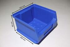 Sichtlagerboxen Gr.1 blau stabil Stapelbox Schraubenbox 20 Stück