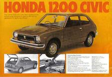 Honda Civic Coupe Z N600 1973-1974 original del Reino Unido folleto de ventas