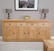 Houston solid oak furniture 4 door 4 drawer extra large sideboard