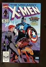 UNCANNY X-MEN #268 VF 8.0 JIM LEE ART / CAPTAIN AMERICA / BLACK WIDOW 1990