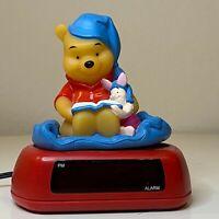 Disney Fantasma Winnie The Pooh And Piglet Night Light Digital Alarm Clock Works