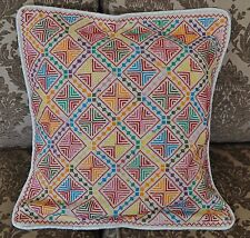 Hand Stitched embroidered Egyptian Palestinian Bedouin Pillow Cushion Cover