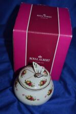 ROYAL ALBERT OLD COUNTRY ROSES BUTTERFLY LIDDED CONTAINER- INBOX -