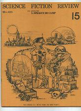 Science Fiction Review #15 1975 fanzine Kurt Vonnegut Space 1999 L Sprague Eb8