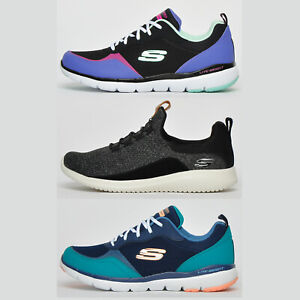 Skechers MEMORY FOAM Womens Fitness Gym Jogging Casual Comfort Trainers