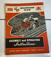 Vintage 1947 Ford Moldboard Plow Operating Instruction Manual