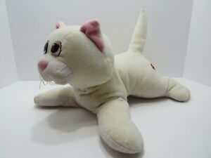 Vintage Tonka Pound Puppies Pur-r-ries White  Plush Cat with Pink Eyes 12""