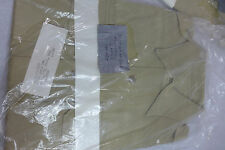 Vintage Men's Khaki Long Sleeve Military Shirt Size 15 1/2 32 NEW In Package