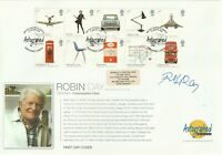 13 JAN 2009 CLASSIC DESIGNS FDC HAND SIGNED BY CHAIR DESIGNER ROBIN DAY SHS