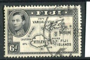 Fiji KGVI 1938-55 6d slate black Die II p13.5 CW13a used