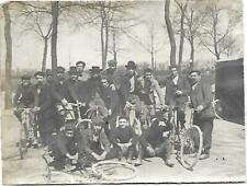 Photographie 1901 - Course Cycliste CHAMPIGNY (94) / CROISSY (78) - Cycle Vélo -
