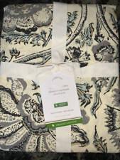 New~Pottery Barn Haylie Printed Organic Shower Curtain~Gray Multi