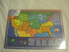 Usa Wooden Puzzle~States and Capitals w/matching picture~New~Lbdfl