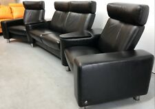 """Ekornes Stressless Leather Reclining 4 Seater """"Arion"""" SCA 121 Home Theater Sofa"""