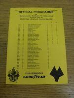 18/12/1995 Wolverhampton Wanderers Reserves v Sheffield United Reserves  (Four P
