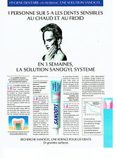 Publicité Advertising 038  1992   dentifrice Sanogyl  dents sensibles