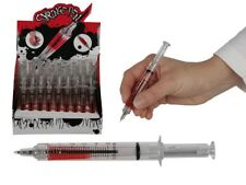 3 X SMALL SYRINGE PEN WITH FAKE BLOOD FOR DOCTOR DR NURSE HOSPITAL NOVELTY GIFT