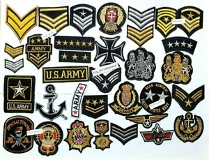 Embroidered Military Army NASA style Iron On Sew On Patches Badges Various style