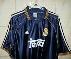 Real Madrid Away shirt adidas,L,1999/00 UVGC. HIERRO REDONDO SALGADO RAUL SAVIO.