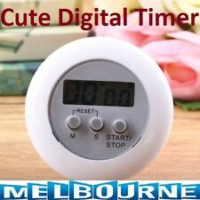 New Cute Mini Round LCD Digital Cooking Home Kitchen Countdown UP Timer Alarm IB