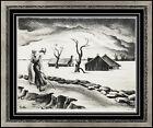 Thomas Hart Benton Landscape Lithograph Original Hand Signed Illustration Art