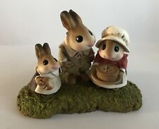 Teaberry Meadow Thanksgiving Pilgrims Like Wee Forest Folk Mint Bunny Figurine