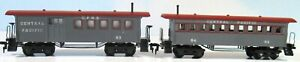 HO TYCO Old Time Central Pacific Passenger Coach & Combine Cars ***Excellent ***