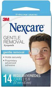 Nexcare Gentle Removal Eyepatch, Regular, Hypoallergenic Adhesive, 14 Ct
