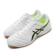Asics Calcetto WD 8 Wide White Black Gum Men Football Soccer Shoes 1113A011-105