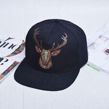 DEER Baseball Cap Animal Summer Sun Hat Vintage Snapback Hip Hop Gift Hunting