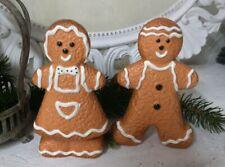 2er Set Gingerbread Figures Christmas Decoration Christmas Landhaus Vintage