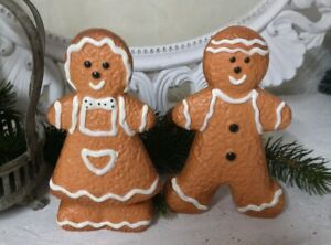 2er Set Gingerbread Figures Christmas Decoration Christmas Landhaus Vintage