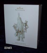 NEW 2011 Hallmark GETTING INTO THE SPIRIT Elegant Porcelain Santa Ornament