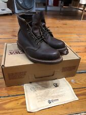 "Vintage Chippewa 6"" Chocolate Ranger Boots Corded Sole With Box Size 6.5 EE"