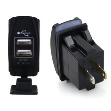 Car DC 12V-24V Blue LED Dual USB Charger Carling ARB Rocker Switches 5V 3.1A