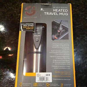NWT SmartGear 12 Volt Digital Power Heated Travel Mug W/ Car Socket