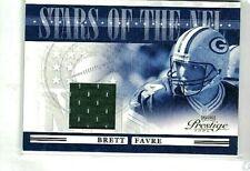 BRETT FAVRE 2006 PLAYOFF PRESTIGE STARS OF THE NFL GAME USED JERSEY