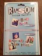 Ransom Fridge Magnet Set - Newspaper Cut Out Font Fridge Poetry