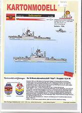 MDK-Verlag 7086-Scatola di cartone modello - 2x U-cacciatore progetto 12.4 squalo popolo Marine - 1:250