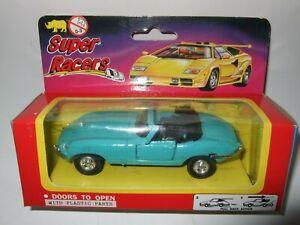 Super Racers Toy JAGUAR E type model open sports car cabriolet mint, lhd MIB.