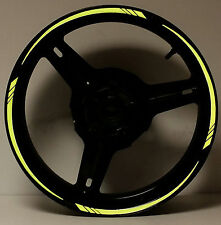 KAWASAKI LIME GREEN REFLECTIVE RIM STRIPES WHEEL MOTORCYCLE DECALS STICKERS TAPE