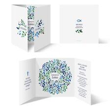 Einladung Einladungskarte Konfirmation Bildertanz Blau