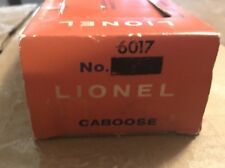Lionel 6017 Caboose BOX ONLY