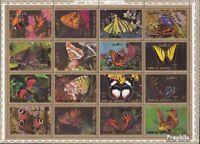 Umm al Qaiwain 1498A-1513A Sheetlet (complete issue) used 1972