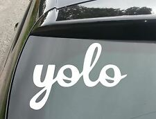 """YOLO"" Funny Car/Window JDM VW EURO DUB Vinyl Decal Sticker"