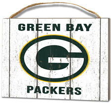 Green Bay Packers Small Plaque - Weathered Logo [NEW] NFL Sign Wall Wood