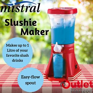 Mistral Slushie Maker 1 Litre Slushy Slurpee Machine Home Frozen Drinks Juice 1L