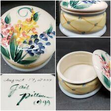 Gail Pittman Art Pottery Signed Porcilain Trinket Jewel Box 2004