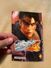 Tekken 4 Manual Only PS2. Instruction Book