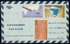 Mayfairstamps INDONESIA COMMERCIAL 1960s AIR LETTER DJAKARTA TO PHILA PA USA wwh